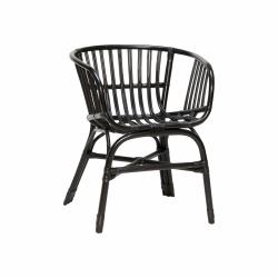 Hübsch SOFT Krzesło Ratanowe - Czarne