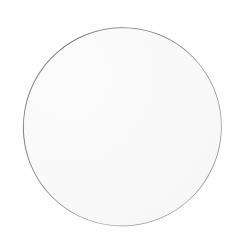 AYTM - CIRCUM Lustro Ścienne Okrągłe 70 cm Taupe - Tafla Klasyczna