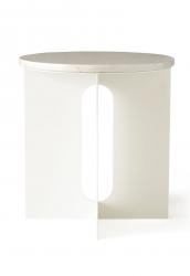 Menu ANDROGYNE Okrągły Stolik z Marmurowym Blatem - Ivory