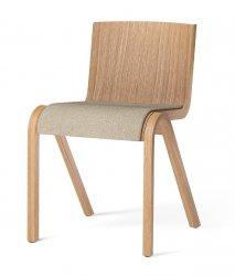 Menu READY Krzesło Drewniane Tapicerowane - Dąb Naturalny / Siedzisko Tkanina Boucle 02