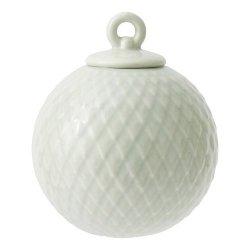 Lyngby Porcelain RHOMBE Bombka Porcelanowa - Jasnozielona