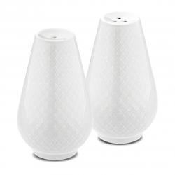 Lyngby Porcelain RHOMBE Solniczka i Pieprzniczka