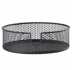 ZONE Denmark BASKET Metalowy Pojemnik - Koszyk do Przechowywania 20 cm Czarny