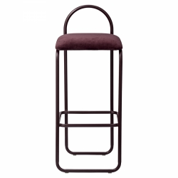 AYTM - ANGUI Hoker - Krzesło Barowe 92,5 cm Bordowe