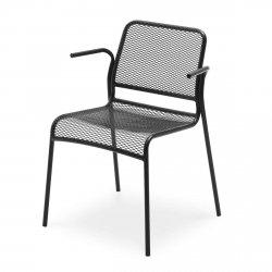Skagerak MIRA Krzesło Ogrodowe z Podłokietnikiem - Czarne