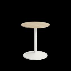Muuto SOFT SIDE Stolik Okrągły 48 cm Biały / Blat 41 cm Dąb Naturalny