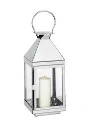 Cilio VILLA Lampion 36 cm Srebrny