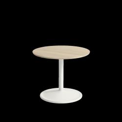 Muuto SOFT SIDE Stolik Okrągły 40 cm Biały / Blat 48 cm Dąb Naturalny