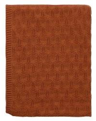 Sodahl DECO Bawełniany Pled - Koc 130x170 cm Czerwony Terracotta
