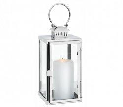Cilio TORRE Lampion 30 cm Srebrny