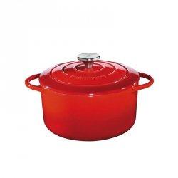 Küchenprofi PROVENCE Garnek Żeliwny z Pokrywką 26 cm Czerwony