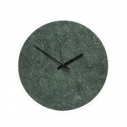 Hübsch CLOCK Marmurowy Zegar Ścienny - Zielony