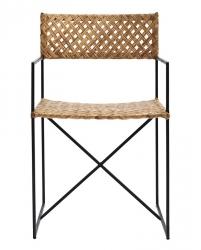 House Doctor OSCAR Krzesło z Rattanowym Siedziskiem i Oparciem - Naturalne