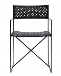 House Doctor OSCAR Krzesło z Rattanowym Siedziskiem i Oparciem - Czarne
