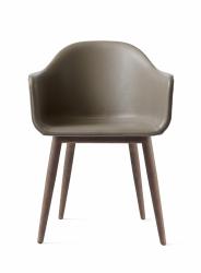 Menu HARBOUR Krzesło - Rama Dąb Ciemny - Siedzisko Beżowa Skóra