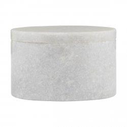 House Doctor MARBLE Marmurowy Pojemnik z Pokrywką - Biały