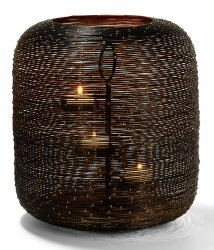 Philippi BOTSWANA Lampion Tealight 36 cm Czarno/Złoty