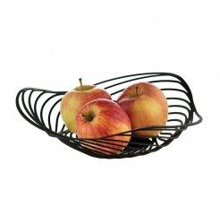 Alessi TRINITY Niski Kosz na Owoce 26 cm Czarny