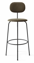 Menu AFTEROOM Krzesło Barowe 102 cm Hoker Czarny Tapicerowany - Tkanina City Velvet CA7832/078