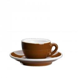 Cilio ROMA Filiżanka ze Spodkiem do Espresso - Brązowa