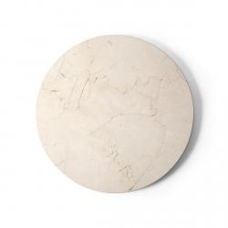 Menu ANDROGYNE Marmurowy Blat do Stolika - Odcień Ivory