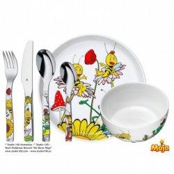WMF Zestaw dla Dzieci - Sztućce + Porcelana 7 El. - Maja