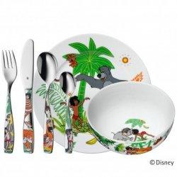 WMF Zestaw dla Dzieci - Sztućce + Porcelana JUNGLE + Figurka