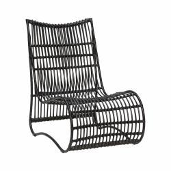Hübsch LOUNGE Fotel Ratanowy - Czarny