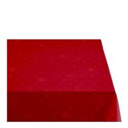 Sodahl CHRISTMAS STELLA Obrus Świąteczny na Stół 140x220 cm Czerwony