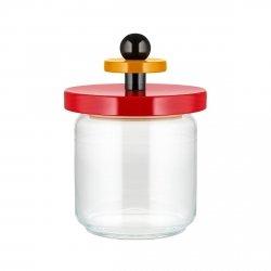 Alessi TWERGI Słój Szklany z Pokrywką 0,75 l Czerwony