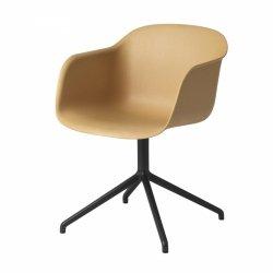 Muuto FIBER ARMCHAIR SWIVEL BASE Krzesło Obrotowe - Rude / Metalowa Rama