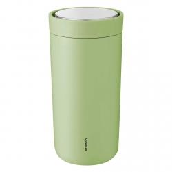 Stelton TO GO CLICK Stalowy Kubek Termiczny 400 ml Zielony Soft Green