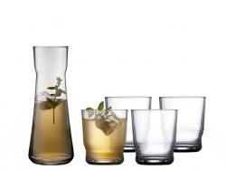 Lyngby Glass LISSABON  Karafka + 4 Szklanki do Wody