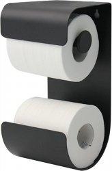 Bath NORDIC Uchwyt na Papier Toaletowy z Miejscem na Zapasową Rolkę - Czarny