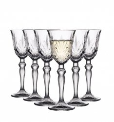 Lyngby Glass MELODIA Kryształowe Kieliszki do Wódki, Likieru 50 ml 6 Szt.
