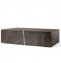 Menu PLINTH Stolik - Postument Marmurowy - Brązowy Marmur