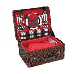 Cilio LUINO Kosz Piknikowy z Wyposażeniem dla 4 Osób