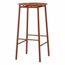 Aytm NOVO Hoker Stalowy - Krzesło Barowe 75 cm Ginger Bread