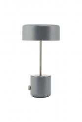House Doctor BRING Bezprzewodowa Lampa Stołowa - Biurkowa LED Szara