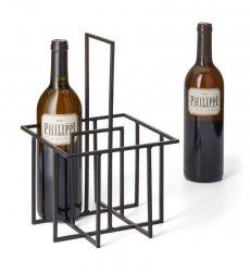 Philippi CUBO Stojak na Butelki Wina - Czarny