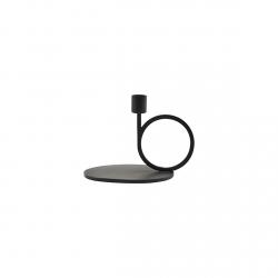 House Doctor CIRQUE Świecznik Stojący Okrągły 13 cm Czarny