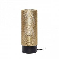 Hübsch SCANDI Lampa Stołowa - Złota z Czarną Marmurową Podstawą