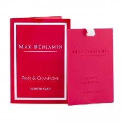 Max Benjamin CLASSIC Zawieszka - Karta Zapachowa - Rose & Champagne