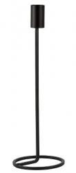 Villa Collection NORDIC Świecznik 29 cm Czarny