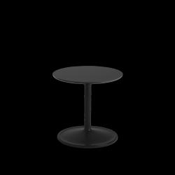 Muuto SOFT SIDE Stolik Okrągły 40 cm Czarny / Blat 41 cm Nanolaminat