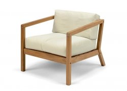 Skagerak VIRKELYST Krzesło - Fotel + Poducha Beżowa