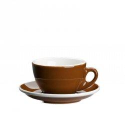 Cilio ROMA Filiżanka ze Spodkiem do Kawy 100 ml - Brązowa