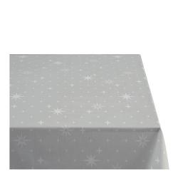 Sodahl CHRISTMAS STELLA Obrus Świąteczny na Stół 140x220 cm Szary