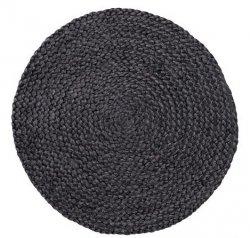 Sodahl ITS ALL NATURAL Okrągła Podkładka na Stół pod Naczynia z Konopii 35 cm 6 Szt. Grafitowa