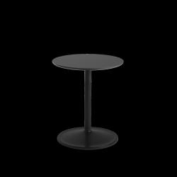 Muuto SOFT SIDE Stolik Okrągły 48 cm Czarny / Blat 41 cm Nanolaminat